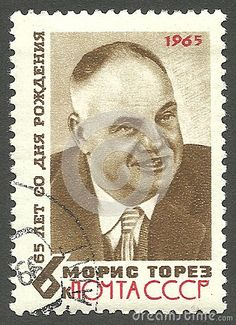 USSR - stamp 1965, Memorable edition, Politicians, Famous people, 65th Birth Anniversary of Maurice Thorez