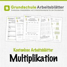 Kostenlose Arbeitsblätter und Unterrichtsmaterial zum Thema Multiplikation im Mathe-Unterricht in der Grundschule.