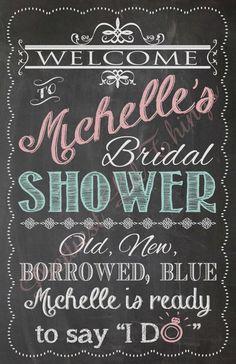Schäbig schicke Jahrgang Chalkboard Willkommensschild Bridal oder Baby Dusche Hochzeit Geburtstag digitale Datei DIY