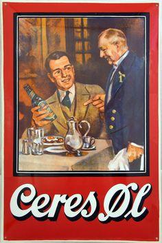 Beer Advertisement, Retro Advertising, Vintage Advertisements, Aarhus, Danish Christmas, Viborg, Book Labels, Beer Quotes, Beer Poster