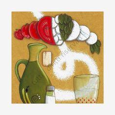 """Cinzia Mazzoni  rossocorallo art : """"kit per pizza"""""""