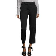 3.1 Phillip Lim Wool Tuxedo Pencil Pants ($180) ❤ liked on Polyvore featuring pants, contemporary sp - workshop, tuxedo suit, slim fit tuxedo suit, slim fit tuxedo pants, cropped trousers and slim tuxedo pants
