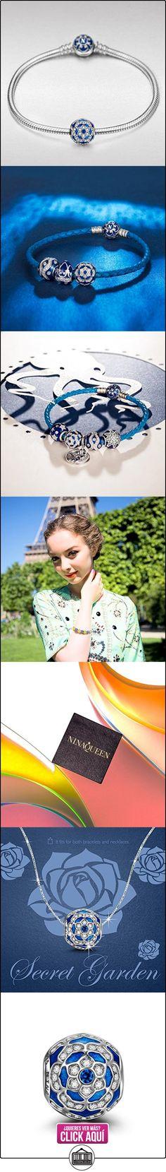 NinaQueen Camelia Abalorio de mujer de plata de ley Charms beads fit Pandora pulseras  ✿ Joyas para mujer - Las mejores ofertas ✿ ▬► Ver oferta: https://comprar.io/goto/B01GE8Y44Y