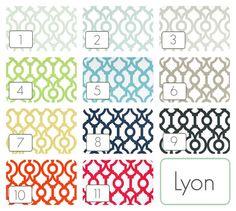 Lyon Geometric Curtain Panels. Window Drapes. by thebluebirdshop