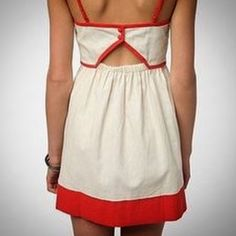 ⚜ COPE Linen Contrast Trim Dress COPE exclusively for Urban Outfitters sold out online! Adjustable straps, sweetheart neckline, buttoned elastic back, pockets. 💋 Happy Poshing! (x trade) @pipershew Urban Outfitters Dresses Mini