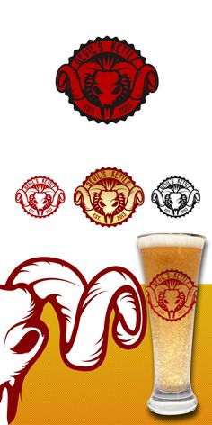 Logo design by cajva #POTD99 11.18.2013 #bighornedsheep #beer #skull