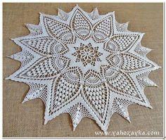 Home Decor Crochet Patterns Part 144 - Beautiful Crochet Patterns and Knitting Patterns Crochet Doily Patterns, Crochet Motif, Crochet Doilies, Crochet Lace, Knitting Patterns, Crochet Diagram, Crochet Home Decor, Filet Crochet, Beautiful Crochet