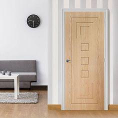 Bespoke Altino Oak Flush Panel Door - Prefinished.  #bespokeoakdoors #oakinteriordoor #madetosizedoor