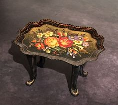 Natasha Beshenkovsky Handpainted 1:12 Miniature Table 1997 IGMA