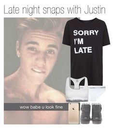 """Late night snaps with Justin"" by outfitsforever00 ❤ liked on Polyvore featuring Justin Bieber, Topshop, Calvin Klein Underwear and UGG Australia"