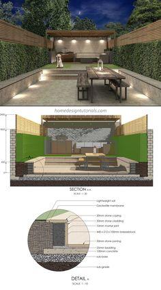 How to Design a Contemporary Garden Post Contemporary, Contemporary Garden Design, Photoshop Rendering, Blog Images, Civil Engineering, Design Tutorials, Garden Inspiration, Architecture Design, Pergola