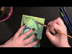 Penny Black: Mixed Media Stamping - YouTube