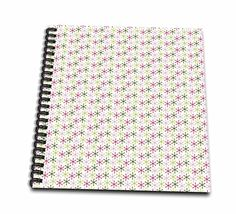 Anne Marie Baugh - Christmas - Pink and Green Dot Snowflakes Pattern - Memory Book 12 x 12 inch (db_217161_2) *** Details can be found by clicking on the image.