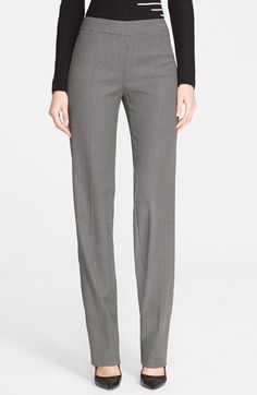 Armani Collezioni Straight Leg Houndstooth Pants available at #Nordstrom