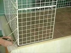 How to Build a Rabbit Condo. I'm making this as soon as we get a house big enough for it!
