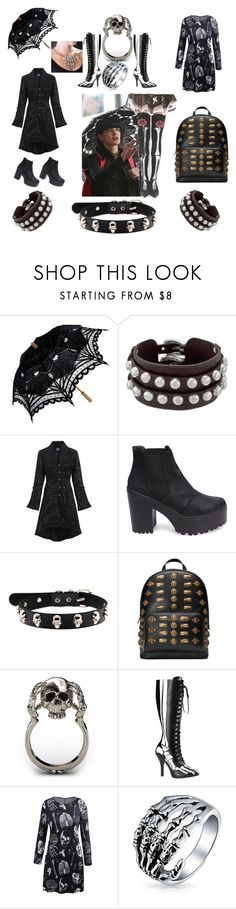 """Loving Abby Sciuto (Pauley Perrette) Style"" by courtenay-militaryveteran ❤ liked on Polyvore featuring Unode50, Steve Madden, Gucci, Funtasma, Bling Jewelry and Grandin Road"