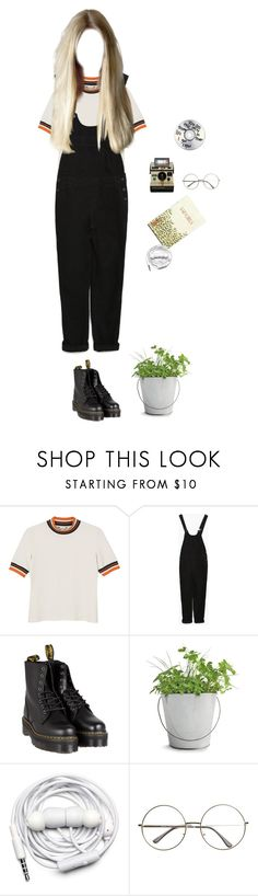 """tumblr girl"" by djulia-tarasova ❤ liked on Polyvore featuring Monki, Zara, Polaroid, Dr. Martens, Potting Shed Creations and Urbanears"