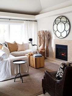 Slipcovered Sectional, Cottage, living room, Jennifer Worts Design