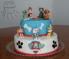 Más Recetas en https://lomejordelaweb.es/ | Paw patrol party. Paw patrol cake. Paw patrol pups. Fiesta de la patrulla canina. Tarta de la patrulla canina. Cachorros de la patrulla canin