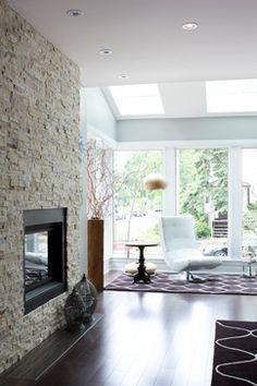 80 Ideas For Contemporary Living Room Designs - Home Decoration Living Room Interior, Interior Design Living Room, Living Room Designs, Living Room Decor, Living Rooms, Interior Decorating, Stone Fireplace Designs, Stone Fireplaces, The Tile Shop