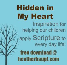 Free parenting tool download to help you talk with your children about living out our faith in everyday life that goes along with the Hidden in My Heart CD's