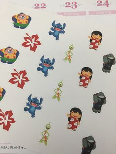 Hawaiian Alien & Friends Planner Stickers by ThisVeryCraftyMama