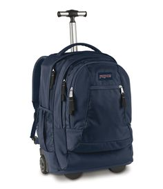 I wanted a new rolling backpack for school next year. My other backpacks are retarded. Jansport, High Sierra, or swissarmy is nice. Anything with black- polka dot, plaid, or plain black. Something that won't get holes or scratched and lasts for a long time.