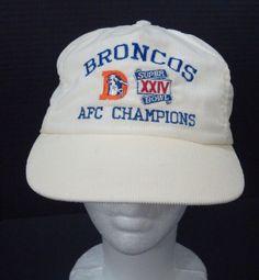 Denver Broncos Super Bowl XXIV AFC Champions Hat Corduroy Snapback Ball Cap USA #Unbranded #BaseballCap