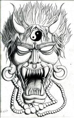 oni mask drawing - Google Search