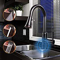 Check this out at Amazon Touchless Kitchen Faucet, Kitchen Faucet With Sprayer, Kitchen Sink Faucets, Bathroom Fan Light, Smart Kitchen, Water Flow, Oil Rubbed Bronze, Handle, Amazon