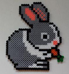 Week 2, Day 11, Bunnies, Perler Beads 365 Day Challenge.