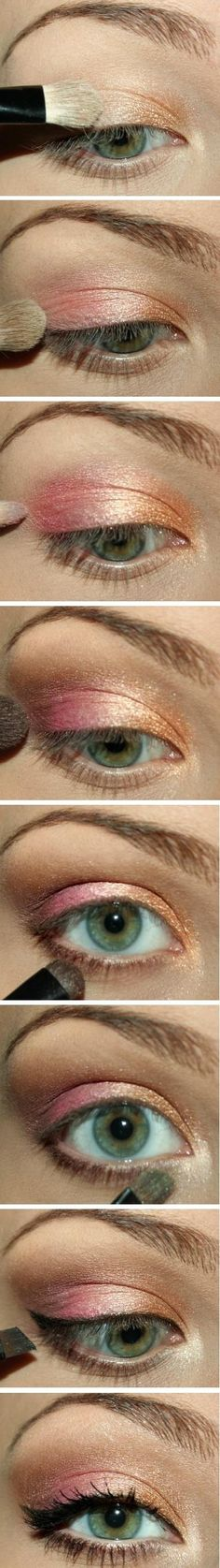 Pink and peach - Nice for green eyes