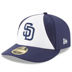 San Diego Padres New Era Diamond Era 59FIFTY Low Profile Fitted Hat - White/Navy