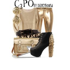 C3PO, created by lalakay on Polyvore