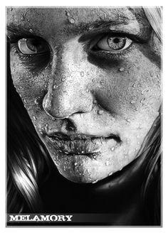 """Ihre realistische Zeichnungen gleichen einem Foto. Die aus Russland stammende Künstlerin Olga """"Melamory"""" Larionova fertigt erstaunliche Bilder mit ihrem Graphitstift an und hatte sofort meine Aufmerksamkeit. So detailliert, sauber und unglaublich verblüffend anzusehen! Ganz... #melamory #streetart"""