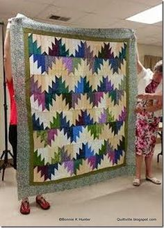 Scrappy Mountain Majesties!  Pattern found under the free patterns tab at the top of the blog!