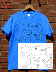 Items similar to Personalized Cotton T-Shirt - Men's Top Custom Silk Screen Print Your Child's Drawing on Jersey Knit Cotton Top Keepsake Gift for Dad on Etsy Silk Screen T Shirts, Fathers Day Crafts, Silk Screen Printing, Personalized T Shirts, Drawing For Kids, Colorful Shirts, Casual Shirts, Trending Outfits, Cotton