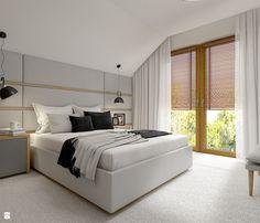 Dom w Milanówku Modern Master Bedroom, Inspiration, Furniture, Design, Home Decor, Bedrooms, Bedding, House, Biblical Inspiration