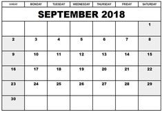 78 best september 2018 calendar images free printables calendar