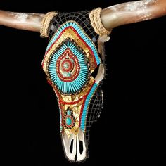 Working in collaboration with the Huichol tribe of Western Mexico, Catherine designs each resins skull using traditional symbols and patterns. Description from pinterest.com. I searched for this on bing.com/images