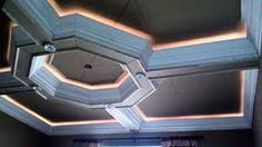 coffered ceiling Ceiling Treatments, Coffer, Crown Molding, Pent House, Lounge, School Projects, Molding Ideas, Board, Architecture