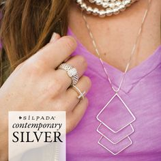"Contemporary #silver = ""edgy elegance"" Check it out! #Silpada"