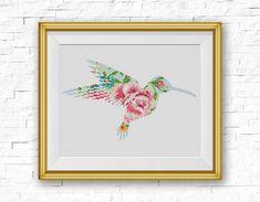 BOGO FREE Hummingbird Cross Stitch Pattern Floral