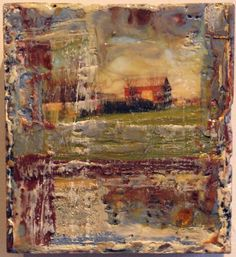 salvage encaustic on found panel 7x7in 2013