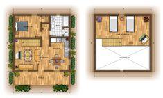 Weekend Log Cabin-small home floor plan