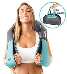 Shiatsu Back Neck and Shoulder Massager with Heat Deep Tissue Kneading Pillow Massager for Neck Back Shoulders Foot Legs Electric Full Body Massage Relieve Muscle pain Office Home & Car Massage Tips, Massage Shiatsu, Hand Massage, Massage Benefits, Massage Roller, Neck Massage, Massage Therapy, Massage Chair, Massage Techniques