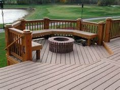 Image detail for -Garden Furniture near House in backyard with wooden deck patio planted ...