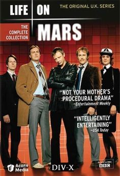 Life on Mars (2006–2007) / S: 1-2 / Ep. 16 / Crime | Drama | Mystery [UK] / Stars: John Simm, Philip Glenister, Liz White / After being involved in a car accident in 2006, DCI Sam Tyler (Simm) wakes up to find himself in 1973, the era of 'Sweeney' type policing, Mark III Cortinas, and flared trousers.
