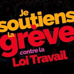 Mobilisation Loi travail: partagez le visuel #JeSoutiensLaGrève!
