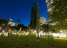field is an immersive mirrored maze in sydney's hyde park - designboom | architecture & design magazine